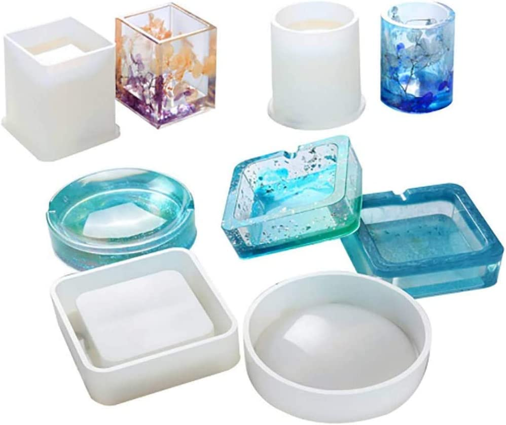 OFFicial site Resin Silicone Mold 4PCS Max 89% OFF Large Round Molds Casting