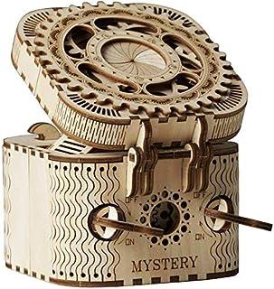 صندوق الكنز الخشبي ثلاثي الأبعاد من شركة أيير - مجموعات نماذج دباغة العقل للبالغين - بناء ميكانيكي للبناء