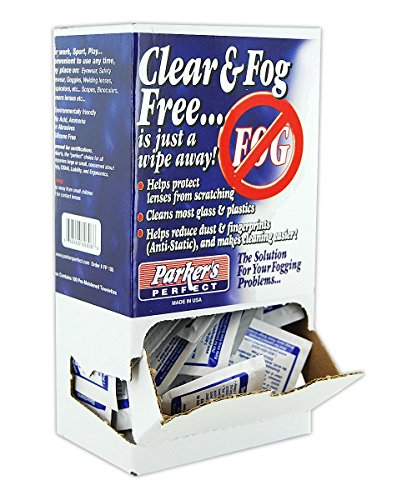 51Dw9wLl+ L - PARKER LAB PPFPBX Anti-Fog Foil Packet Dispenser, White (Pack of 100)