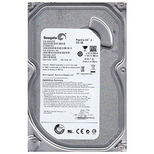 Seagate SATA Hard Drive Pipeline HD 500 GB, Internal, 5900 RPM, 3.5