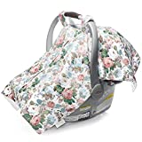 Warm Carseat Canopy Cover Up Apron for Baby Car Seat Carseat Canopy Nursing Baby Shower Gift Floral Print Infant Car Seat Cover