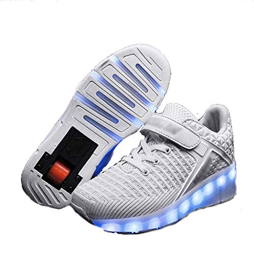 lei shop Wheelies Shoes,Roller Shoes Girls Boys Wheel Shoes Kids Roller Skates Shoes Gifts for Children, Breathable Roller Sneakers Shoes