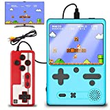 Kammoy Retro Game Console, Mini Handheld Game Console with Built in 500 Free FC Games,3.0 inch Screen 1020mAh Battery, Support TV Connection & Two Players, Portable Game Console Gifts for Kids (Blue)