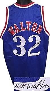 Bill Walton Signed Jersey - Blue TB Custom Stitched XL Hologram - JSA Certified - Autographed NBA Jerseys