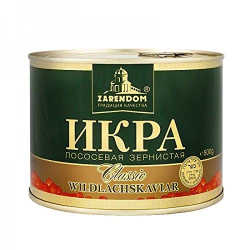 Kaviar - Zarendom Gorbuscha Lachskaviar Klassik 500 g Dose - roter Kaviar - caviar - икра