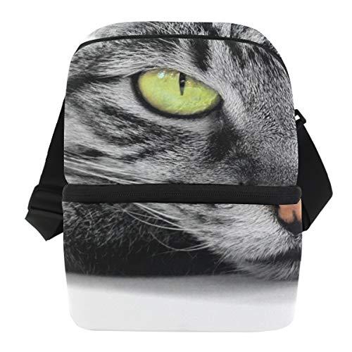 Houder ijszak picknick draagbare lunchtas koelbox schouderriem Green Eyed Cat