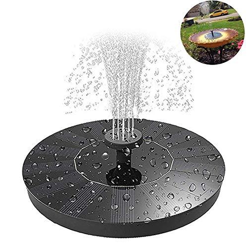 Fablcrew Solarbrunnenpumpe, Wasserpumpe, solarbetrieben, für den Außenbereich, Teichpumpe, Garten oder Aquarium, Schwarz