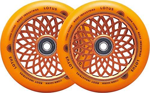 Root Industries Lotus Stunt - Ruedas para patinete (110 mm, 2 unidades), color naranja