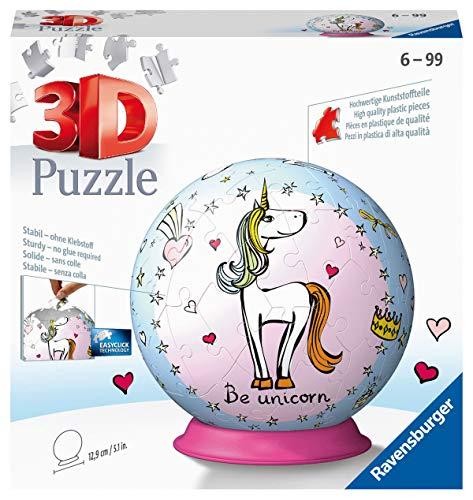 Ravensburger- Puzzle 3D Bola Unicornio 72 Piezas. (11841 0) , color, modelo surtido