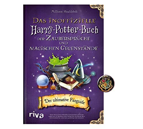 Buchspielbox El libro oficial de Harry Potter de los hechizos y los objetos mágicos: guía definitiva para fans + botón de Harry Potter, libro de bolsillo a partir de 10 años.