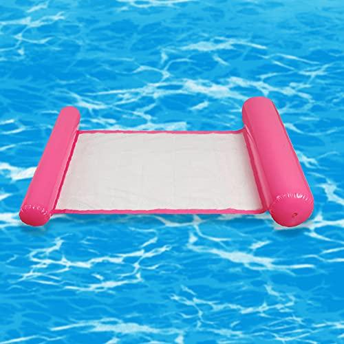 JeromKewin Aufblasbare Luftmatratze, schwimmendes Bett, Hängematte, Lounge-Sessel, für Schwimmbad, Strand, für Erwachsene Rose