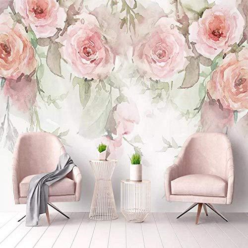 Murales De Pared Murales De Arte De Pared 3D Personalizados Papel Pintado Autoadhesivo Flor Pastoral Floral Pintura De Pared Papel De Pared Para Sala De Estar Dormitorio Fondo