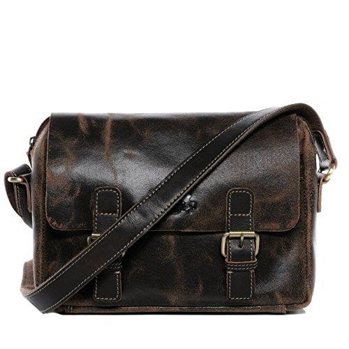 SID & VAIN Cross Body Bag echt Leder Yale Schultertasche Umhängetasche Ledertasche Unisex