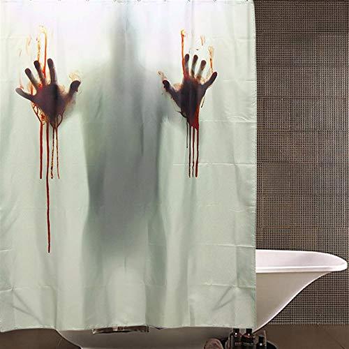ERCZYO Halloween Horror Blutbad Polyester Duschvorhang Badezimmer Dekor mit 12 Haken (Size : Size 150x180cm)
