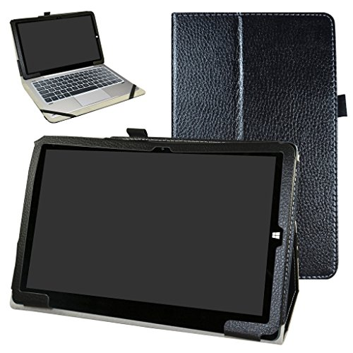 Mama Mouth Chuwi hi10 Pro / hi10 Funda, Slim PU Cuero con Soporte Funda Caso Case para 10.1' Chuwi hibook hi10 Pro/hibook hi10 Windows + Android Dual OS Tablet PC 2016,Negro