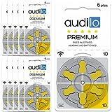 Audilo Batería de Audífono 10 Premio (PR70) | para Todas Las Clases de Audífonos [Sin Mercurio]...