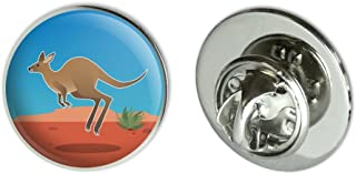 "GRAPHICS & MORE Kangaroo Hopping in The Australian Outback Metal 0.75"" Lapel Hat Pin Tie Tack Pinback"