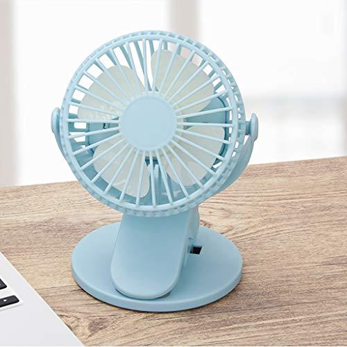 Yousiju Ventilador de escritorio y mesa con clip recargable de venta caliente mini ventilador de abrazadera portátil giratorio con enfriador de aire (color: C)