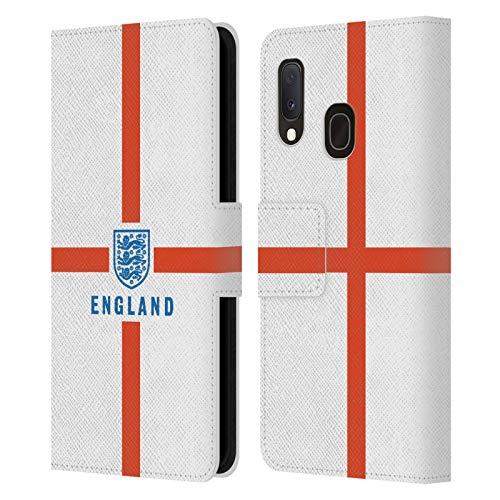 Head Case Designs sous Licence Officielle England National Football Team Drapeau Patrimoine Coque en Cuir à Portefeuille Compatible avec Samsung Galaxy A20e (2019)