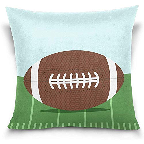 Throw Pillow case, Throw Pillow Covers, Cushion Covers, Flat American Football Decorations Decor Throw Pillow Case Sofa Waist Throw Cushion Cover Home Decor Square 18x 18inch