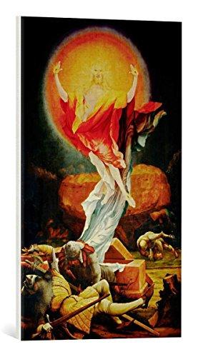 kunst für alle Leinwandbild: Mathis Gothart Grünewald Auferstehung Christi - hochwertiger Druck, Leinwand auf Keilrahmen, Bild fertig zum Aufhängen, 40x65 cm