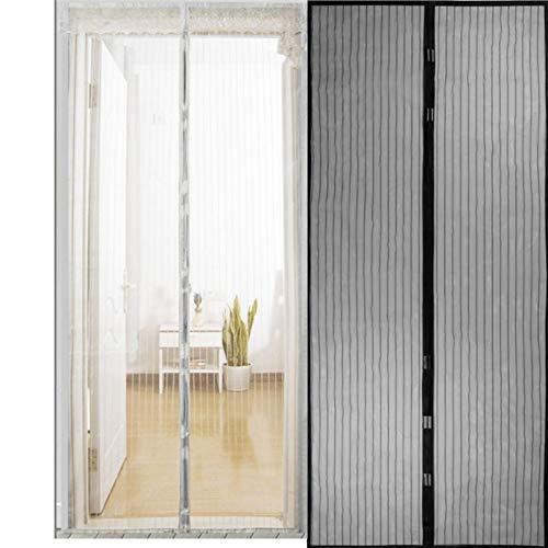 NO LOGO LT-Home, 1pc Heißer Sommer Anti-Moskito-Insekt-Fliegen-Wanzen-Vorhänge Magnetic Netz-Ineinander greifen automatische Schließung Tür-Schirm Küche Vorhang (Farbe : Schwarz, Größe : 80 x 210cm)