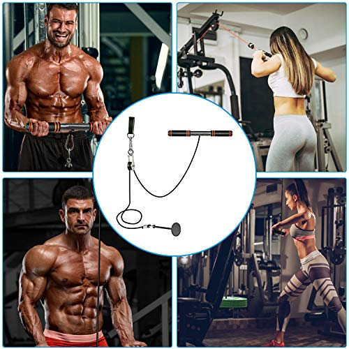 Product Image 2: PELLOR LAT Pull Down Machine, Power Tower Adjustable Forearm Wrist Roller Trainer, Arm Strength Training Machine Exercise Pulley Cable System Gym Equipment for Home Workouts