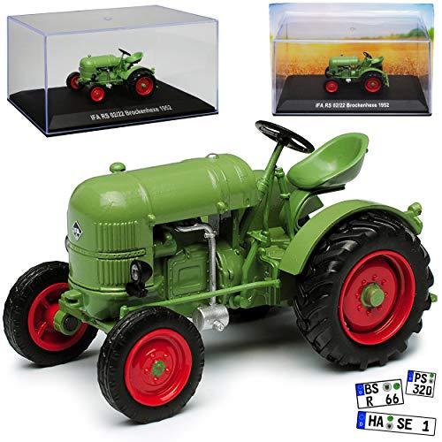 IFA RS 02/22 Brockenhexe Traktor Grün 1949-1952 1/43 IXO Modell Auto