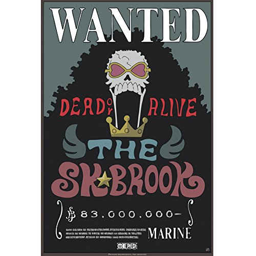 ABYstyle - Una pieza – Poster \Wanted Brook New\ (52 x 35)