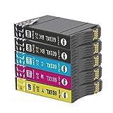 Teland - Cartucho de tinta compatible para Epson 603 603XL para Expression Home XP-2100 XP-2105 XP-4105 XP-4100 XP-3105 XP-3100 WorkForce WF-2850DWF WF-2835DWF WF-2830DWF WF-2810DWF (5 paquetes)