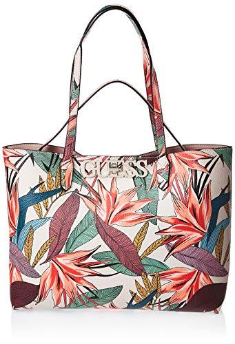 Guess UPTOWN CHIC PF730123 Shopper + kleine Tasche mit puderrosa Blumenmuster
