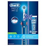 Oral-B Braun PRO 2800, Elektrische Zahnbürste, Blau