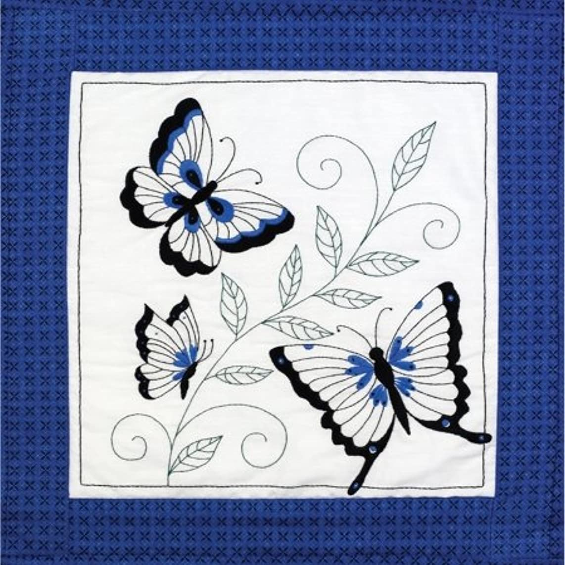 Janlynn 21-1458 Butterfly Quilt Blocks Stamped Embroidery-15X15 6/Pkg