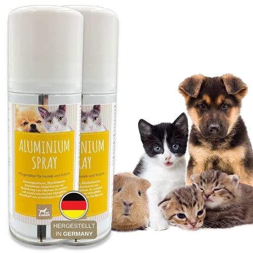 Spray de plata para animales, spray para protección de heridas para perros, gatos y mascotas, spray de plata, desinfección de heridas, parche pulverizador transpirable, 2 unidades de 100 ml