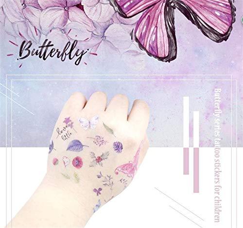 5pcs/set Butterfly Temporary tattoos stickers flash tattoo pop fashion paste makeup children tattoo waterproof
