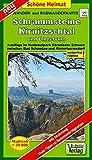 Wander- und Radwanderkarte Schrammsteine, Kirnitzschtal und Umgebung: Ausflüge im Nationalpark Sächsische Schweiz zwischen Bad Schandau und Hinterhermsdorf. 1:20000 (Schöne Heimat)