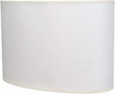 "Aspen Creative 37021 Oval Hardback Shaped (Spider) Shade in Off-White, 15 1/2"" Wide"