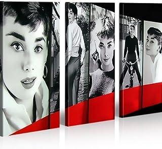 islandburner Cuadro en Lienzo Audrey Hepburn Pop Art My Fair Lady Impresión sobre Lienzo - Formato Grande 3 Partes - Impresion en Calidad fotografica