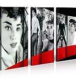 islandburner Bild Bilder auf Leinwand Audrey Hepburn Pop