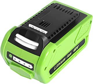 Amityke 40V 6000mAh Battery Replacement Compatible with Greenworks 29472 G-MAX 29462 29252 20202 22262 25312 Cordless Chainsaw Power Tools