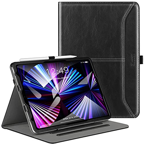 Ztotop for iPad Pro 11-inch Case 3rd Generation, iPad Pro 11 Case 2021, Premium Leather Folio Stand Case Cover with Auto Wake/Sleep, Pencil Holder, Multiple Viewing Angles, Black