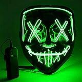Màscara LED Halloween, Lluminosa *Craneo Esquelet Masteguessis, màscara de purga d'Halloween amb 3 maneres d'il·luminació, per a Nadal, Halloween, *Cosplay, *Grimace Festival, Festa Xou i Mascarada