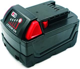 5000mAh 18650 Battery Pack MIL18D Lithium Battery 18V Replacement For Milwaukee 18V battery M18 48-11-1850 48-11-1815 48-11-1820 Battery Pack 18V