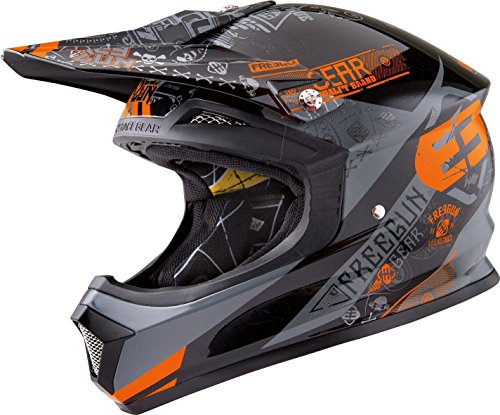 SHOT FREEGUN XP-4 BANDANA helm X-Large grijs/oranje
