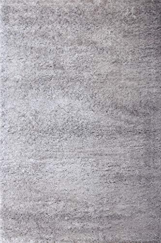 floor factory Hochflor Shaggy Teppich Pearl grau 80x150cm wunderbar weicher Langflorteppich mit Ökotex