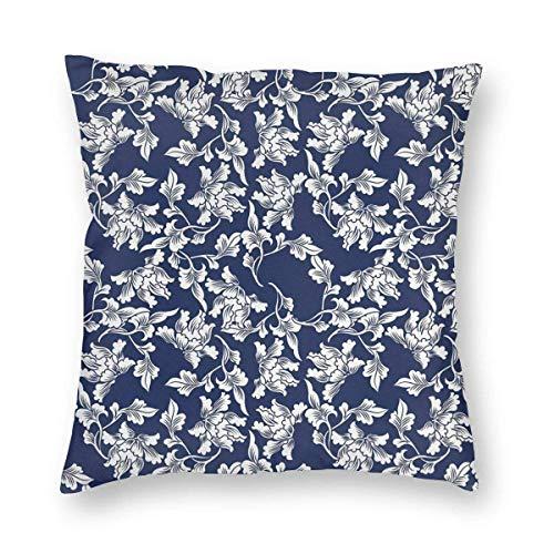 Funda de almohada impresa con diseño de dos lados, imagen de arte vintage de vuelo abstracto entre árboles de bambú en el lago, funda de almohada cuadrada, funda de cojín para sofá, decoración del hog