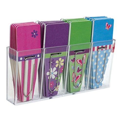 """Clip-Rite Clip-Tabs, 1/2"""", Fuchsia/Lime/Orange/Purple, Pack of 24"""