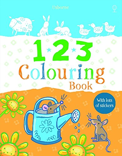 123 Colouring Book with Stickers (First Colouring Books with stickers)