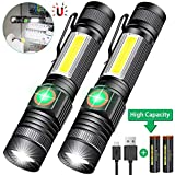 iToncs Magnetic LED Torch Super Bright COB Flashlight Torches USB Rechargeable for Camping