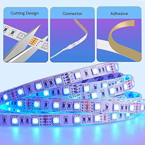 Govee 32.8 Feet RGB Led Strip Lights, App Control, Music Mode for Bedroom, Room, Kitchen, Party 3